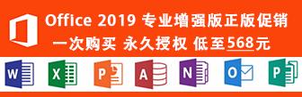 Microsoft Office 2019 ProPlus 专业增强版正版促销