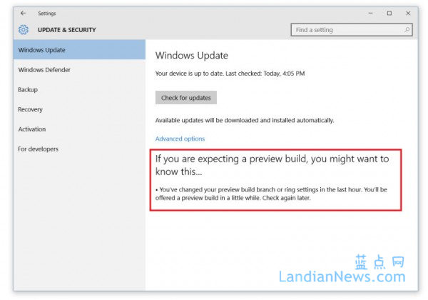 微软向Windows Insider用户推送Windows 10 Build 10547版