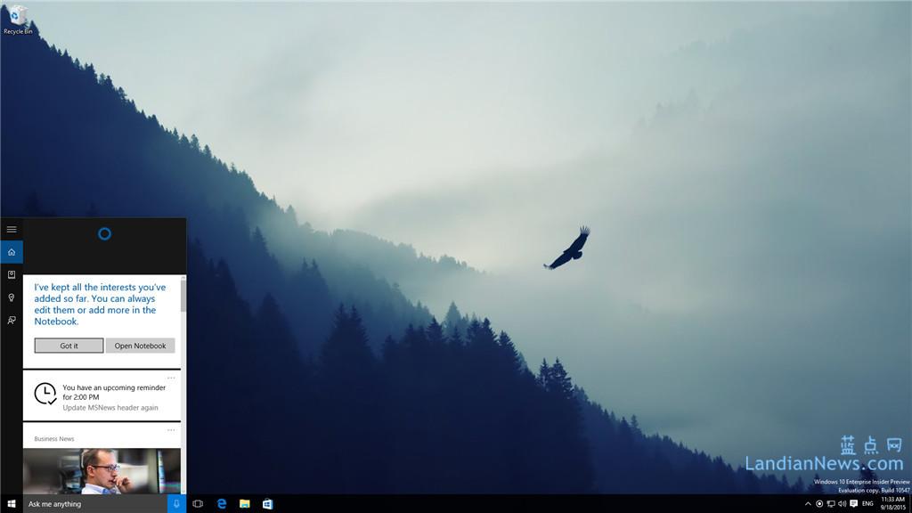 [图赏]Windows 10 Build 10547版截图赏析