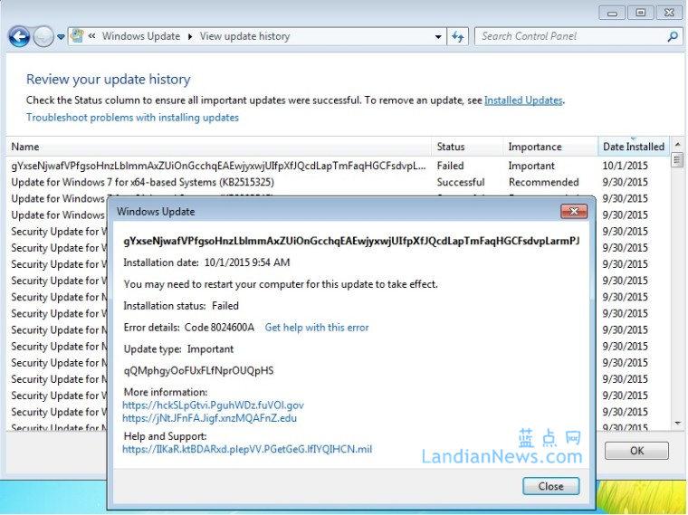 临时工干的:微软向Windows 7用户推送了一个测试更新