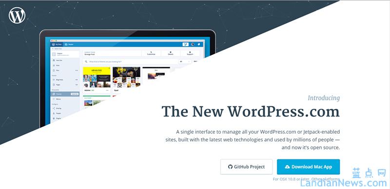 WordPress官网改版、发布桌面级站点管理程序并开源