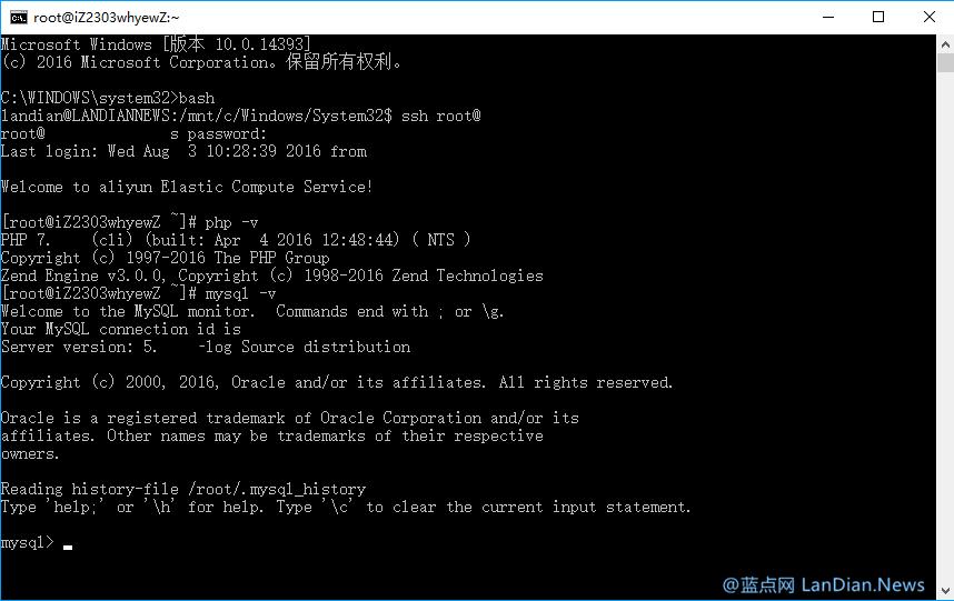 Windows 10内置的Linux子系统现已脱离测试标签
