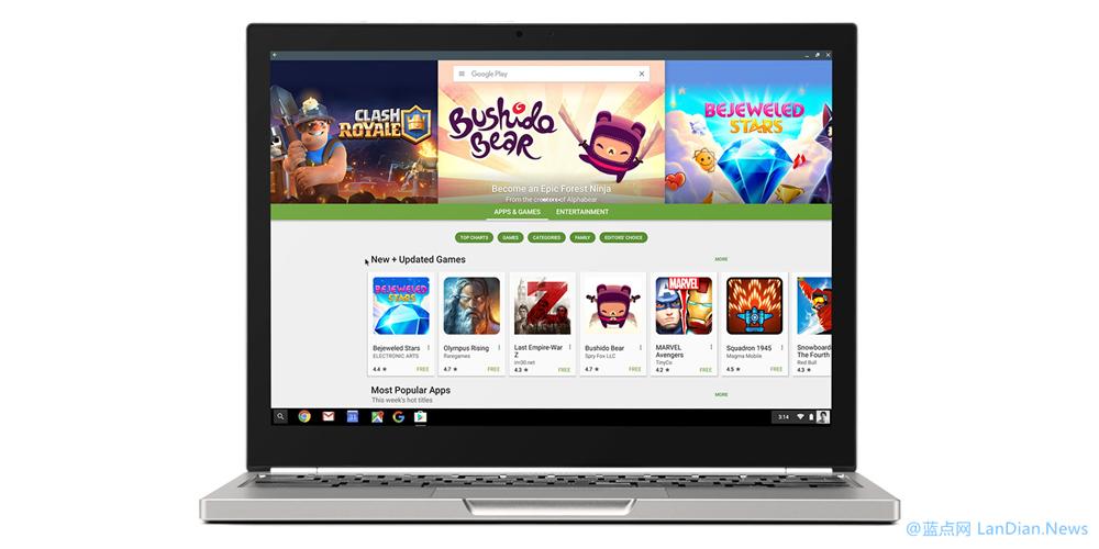 支持运行Android应用程序:Chrome OS v53.0.2785.129版发布