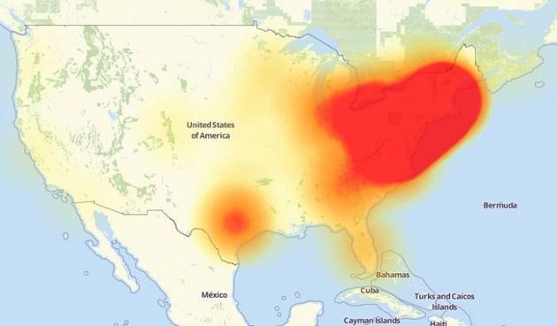 北美遭大规模DDoS攻击 多个知名网站下线