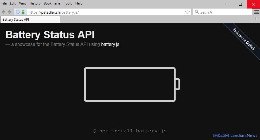 因隐私问题Mozilla Firefox宣布移除对电池状态API的支持