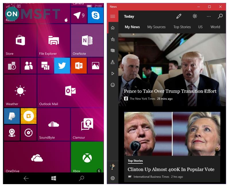 Windows 10 多款内置应用迎来半透明磁贴效果
