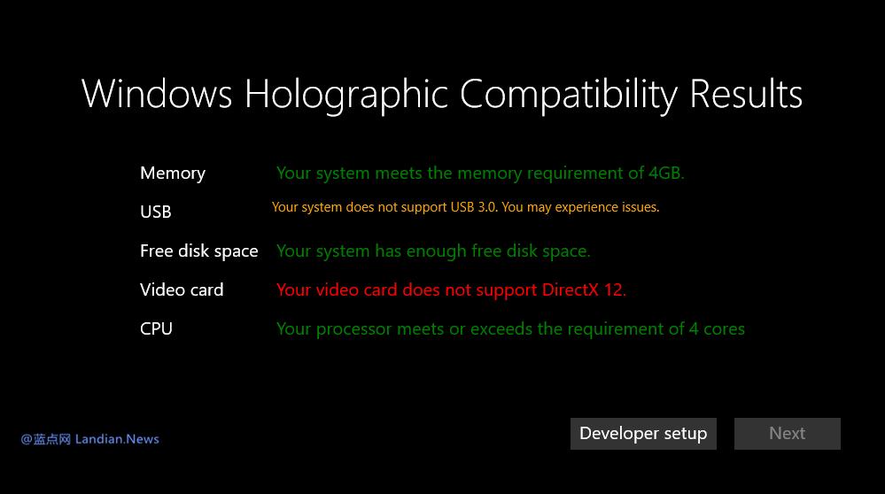 Windows 10 最新测试版本展示了VR眼镜的最低硬件要求
