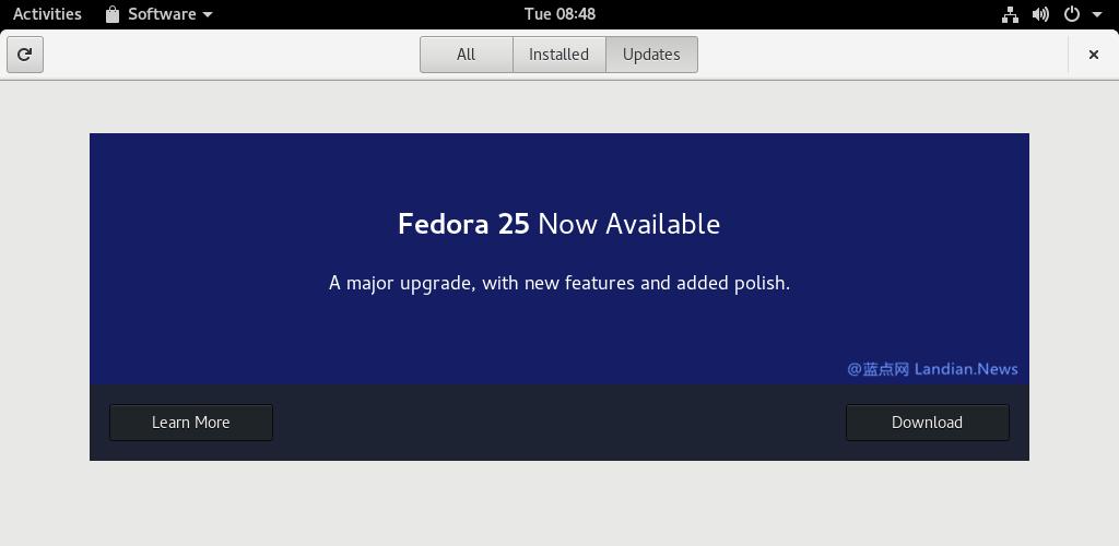 [教程] 如何将 Fedora 24 升级至最新的 Fedora 25 版