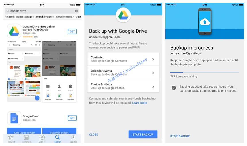 Google Drive新增迁移功能:如果你想从iOS换Android的话