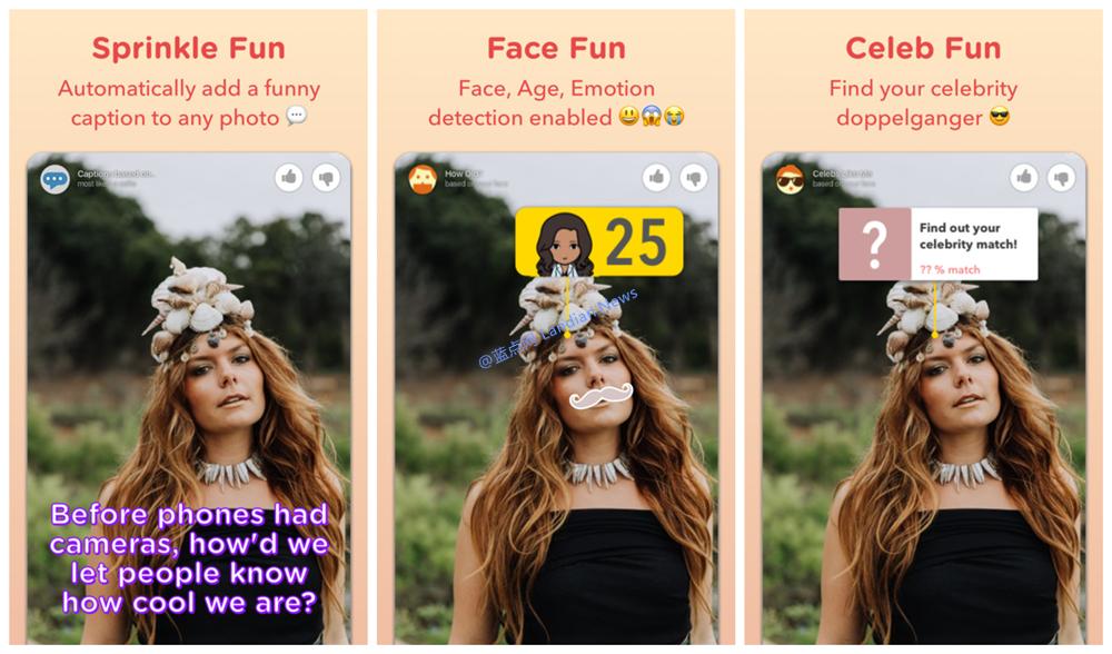 微软为iOS平台制作了可以自动添加贴图和文字的应用