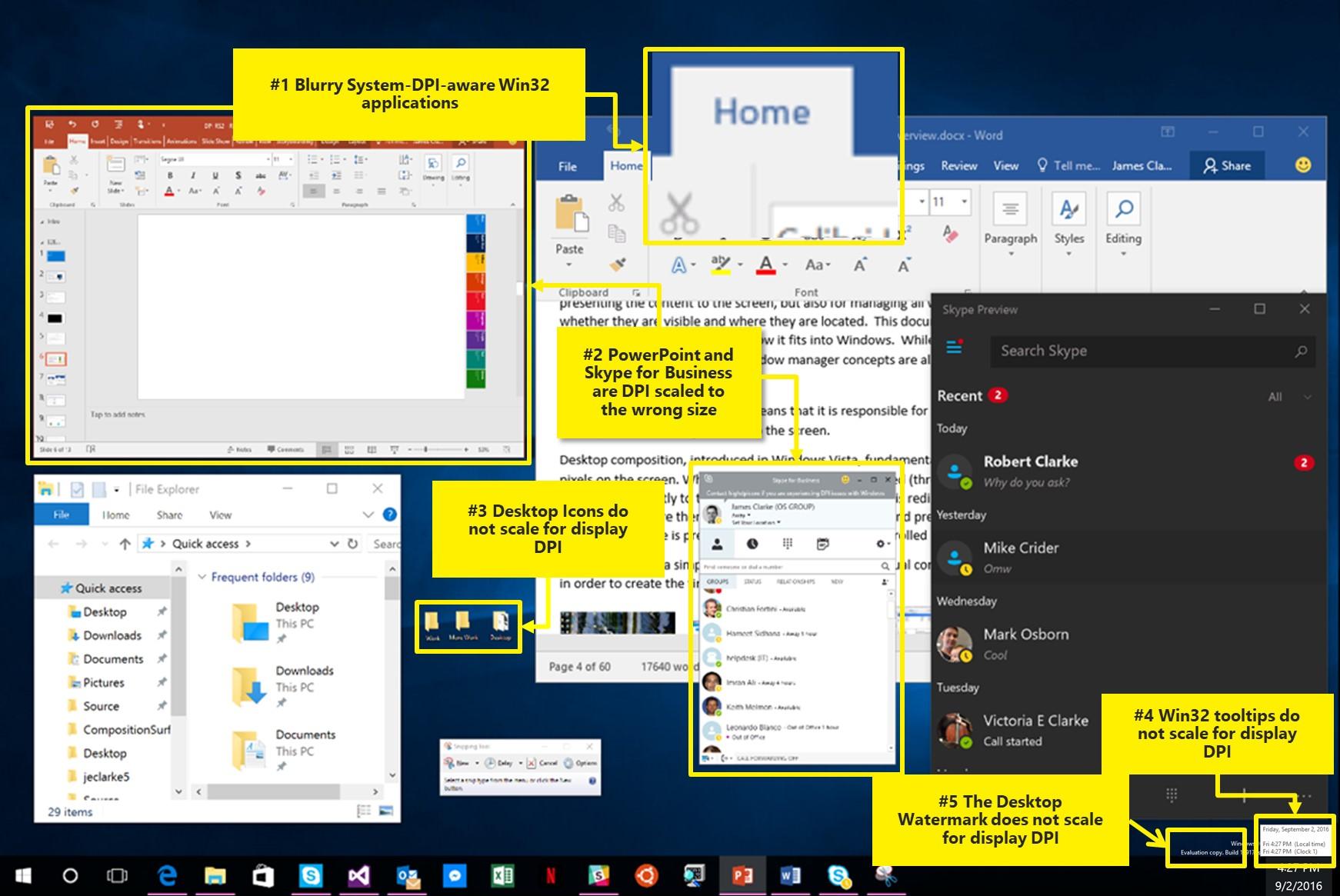 微软在Windows 10创意者更新中继续改进混合模式DPI缩放