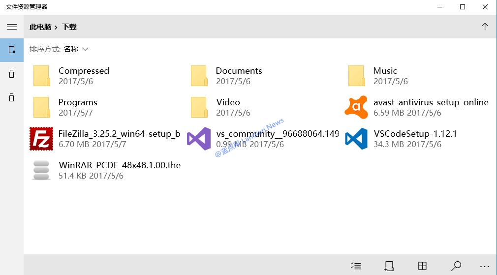 微软展示Windows 10 UWP版文件资源管理器