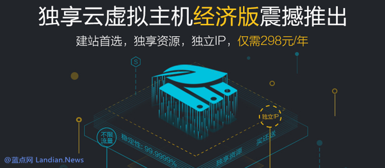 阿里云推出独享型虚拟主机并含有独立IP地址