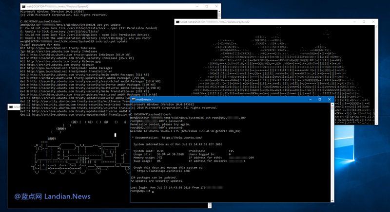 Windows 10 子系统功能新增对SUSE和Fedora Linux的支持