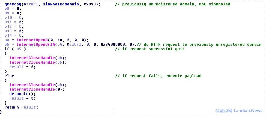 研究人员发现WannaCry勒索病毒内置了开关