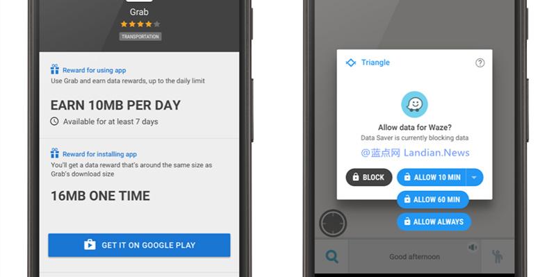 谷歌推出Triangle应用帮助用户限制和节省流量