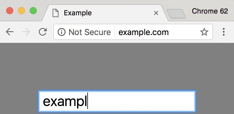 谷歌浏览器将对需要输入内容的HTTP网站标记不安全