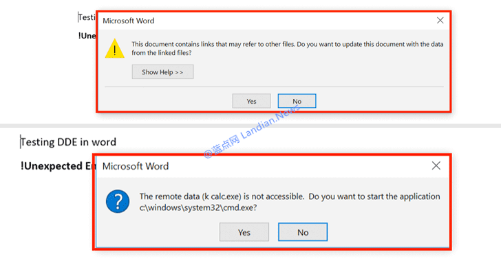 被微软认为不重要的Office DDE漏洞已经开始遭到利用