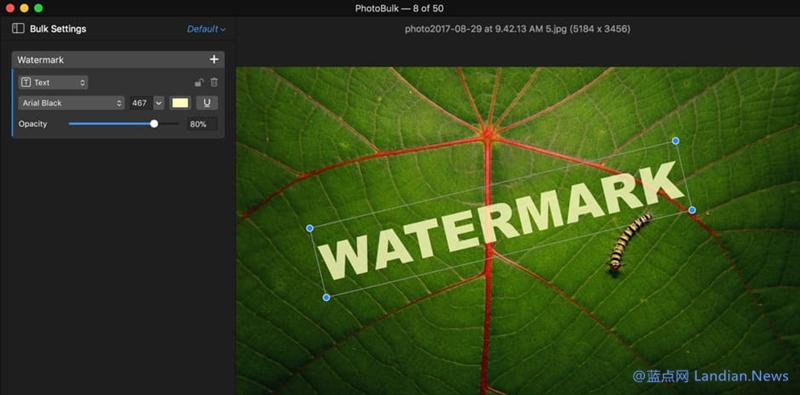轻量级水印编辑器PhotoBulk Lite下载及使用介绍
