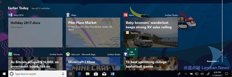 数次跳票的Windows 10时间线功能现已到来