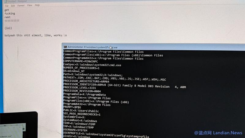 树莓派刷写Windows 10 ARM版后成功运行桌面程序
