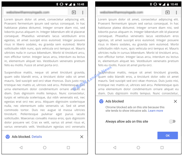 谷歌浏览器宣布即日起开始拦截非良性的广告内容