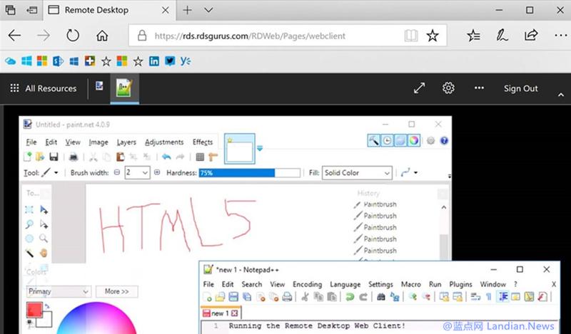 微软正在测试基于HTML 5的网页版远程桌面连接