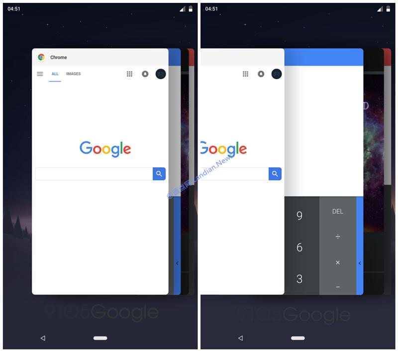Android P版多任务切换已经变成水平滚动更加轻盈灵动