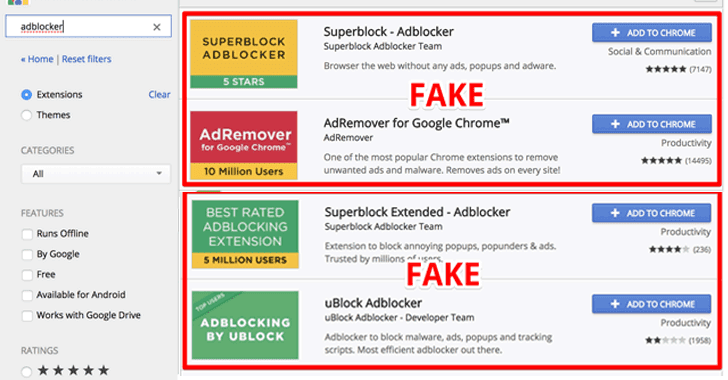 超过2000万名谷歌浏览器用户安装恶意的广告拦截器