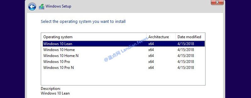 微软开发中的Windows 10精简版比普通版减少五万个文件