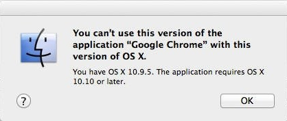 谷歌浏览器不再支持旧版OS X以及处理器必须支持SSE2