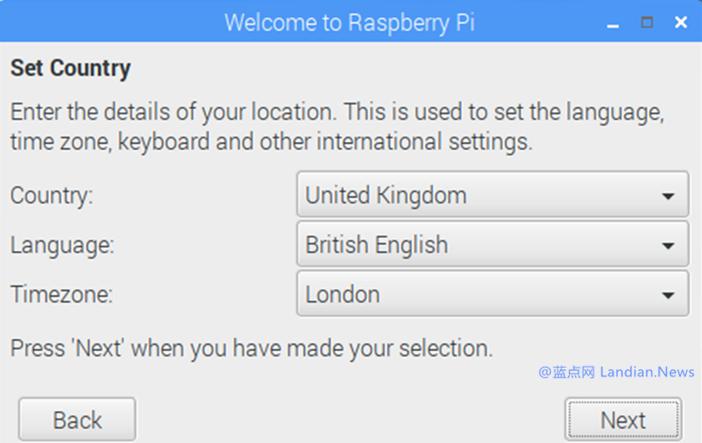 树莓派官方版操作系统新增精灵向导帮助新用户设置