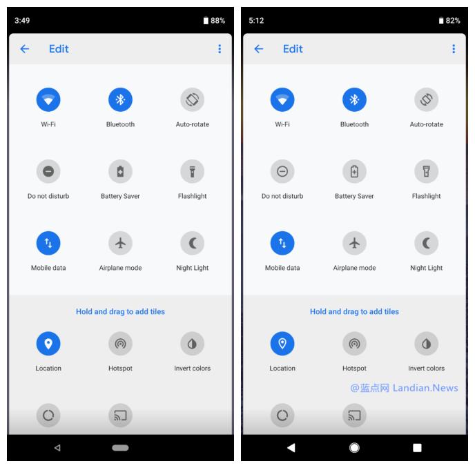 Android P最新测试版带来更多的UI和图标方面的改进