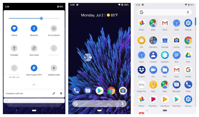 Android P DP4 最新预览版已经支持选择黑色主题模式