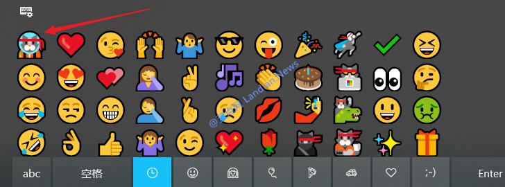 微软悄悄在Windows 10里内置独占设计的太空猫表情