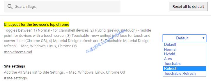 如何在谷歌浏览器v68正式版里开启新版材料设计风格