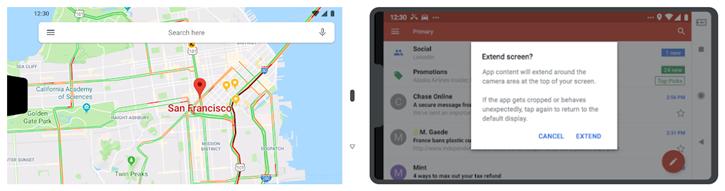 谷歌官方博客发文称Android P版将最多支持双刘海
