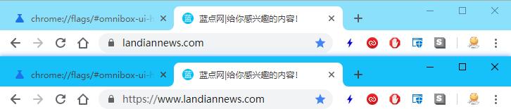 谷歌浏览器在测试版里又开始默认隐藏网址的WWW前缀