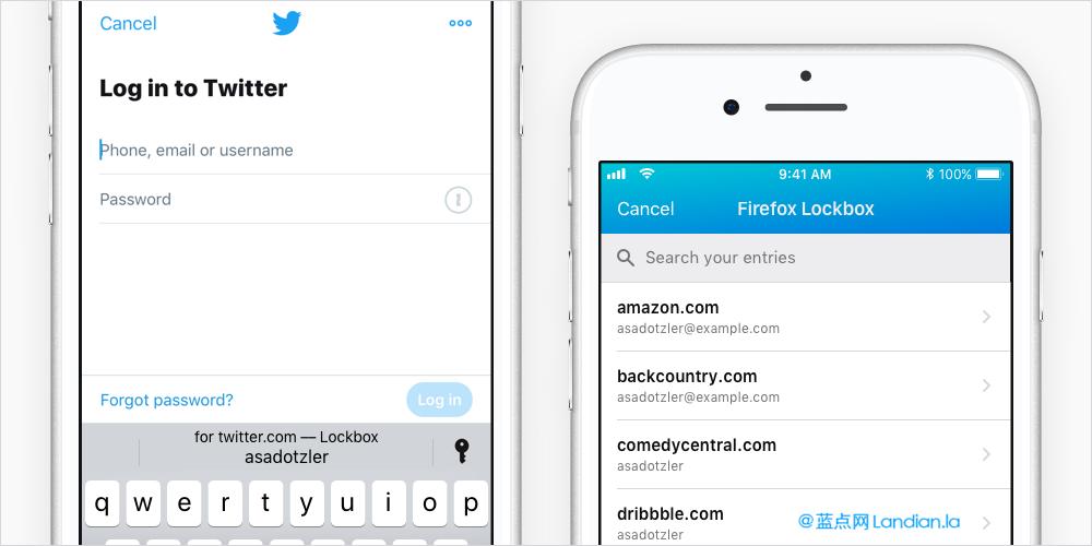 火狐密码保险箱发布新版适配iOS 12版自动填充账号密码