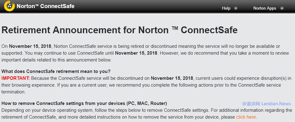 赛门铁克将在下月关闭公共DNS服务器即诺顿安全连接