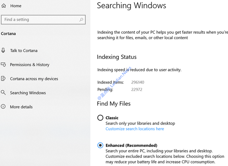 微软测试Windows 10搜索框的新增强模式提高查找能力|蓝点网