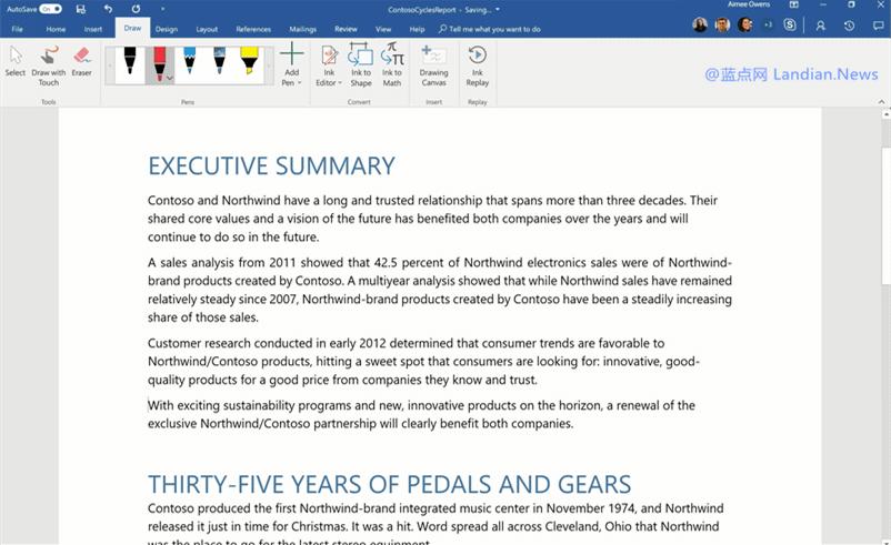 微软将在Word新版本里支持将文档直接转换为交互式网页