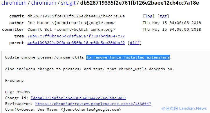 谷歌浏览器将强制删除通过组策略等安装的恶意扩展程序