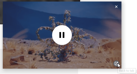 谷歌浏览器画中画功能将为浮窗视频添加快捷返回按钮