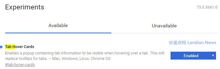 谷歌浏览器正在测试标签页悬停浮窗 具体用途暂不清楚