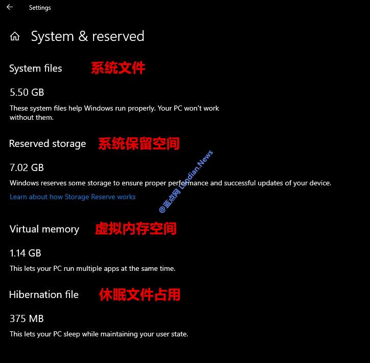 通过注册表强制禁止Windows 10保留7GB空间用于更新