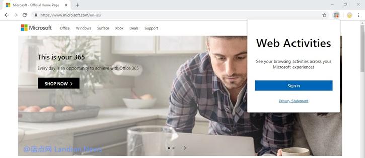 [下载] 微软发布谷歌浏览器Windows 10时间线同步扩展