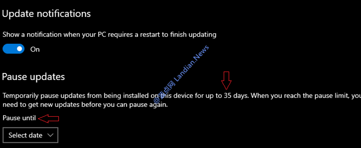 微软将Windows 10家庭版暂停更新时间由7天延至35天<