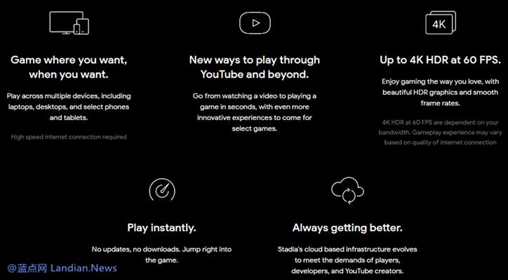谷歌推出STADIA云游戏流媒体游戏平台 无需下载游戏跨平台即点即玩