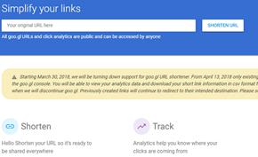 谷歌开始逐渐关闭GOO.GL短网址服务,数据统计控制台已无法访问